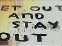 Sectarian graffiti