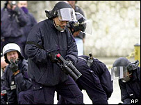 French police in Nice, archive pic