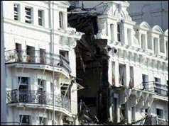 Bomb damage at the Grand