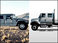 Hummer H1 (left) and CXT