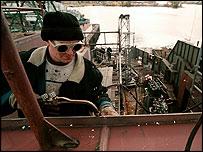 Riga shipyard worker