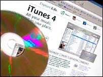 Screenshot of Apple iTunes service