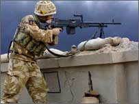 British soldier in Basra