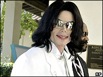 Michael Jackson pictured at an earlier hearing