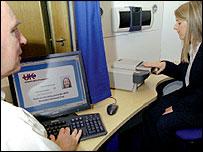 Fingerprinting machine (Image: UKPS)