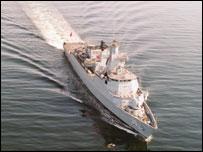 BAE-built frigate