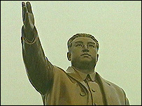 Statue of the late head of state Kim Il-sung
