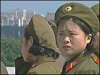 North Korean army personnel