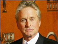 Michael Douglas at an awards ceremony in February 2004