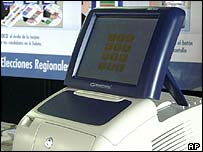 A touch-screen voting machine