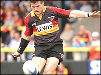 Dragons fly-half Ceri Sweeney
