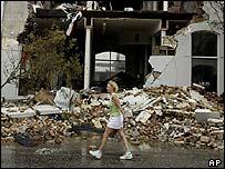 Hurricane damaged property in Florida