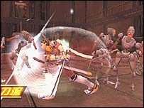 Screenshot from Seven Samurai 20XX game
