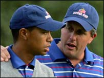 Tigre Woods and Phil Mickelson