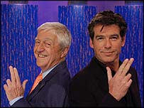 Michael Parkinson and Pierce Brosnan