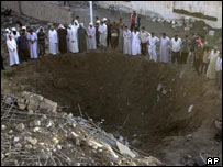 Scene of recent bombing in Falluja