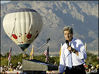 John Kerry campaigns in Albuquerque