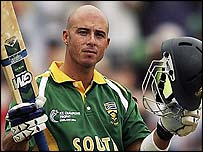 Herschelle Gibbs hit 101 off 135 balls for South Africa