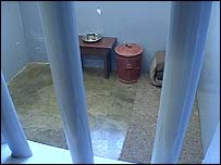 Mandela's cell in Robben Island prison