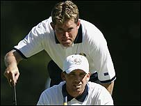 Lee Westwood (top) and Sergio Garcia