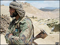Afghan government militiaman