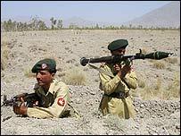 Pakistani troops in South Waziristan