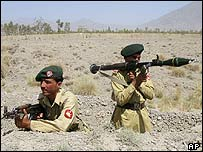 Pakistani troops in South Waziristan