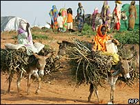Refugee girls in Darfur, Sudan