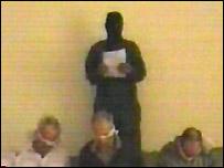 Al-Jazeera pictures of three Westerners taken hostage in Baghdad