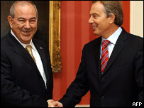 Iraq's interim prime minister Iyad Allawi and UK Prime Minister Tony Blair