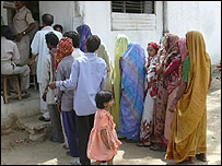 Voters in Mirzapur