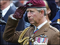 Prince Charles at a ceremony