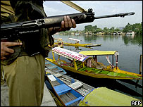 Indian soldier, Dal Lake, Kashmir