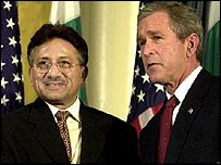 Musharraf and Bush