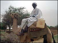 Polio vaccines being delivered by camel
