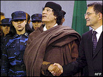 Colonel Gaddafi and Romano Prodi