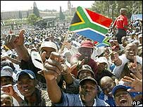 Crowd outside Union Buildings