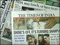 Newspaper front pages on 27 April
