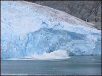 Glaciar de San Rafael, fotos Universidad de Gales.
