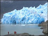 Glaciar de San Rafael, foto Universidad de Gales.