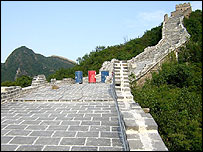 Restoration work on Great Wall