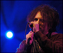 Robert Smith, lead singer of The Cure