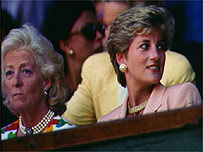 Princess Diana and her mother Frances Shand Kydd
