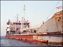 A Russian oil tanker