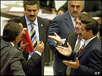Turkish MPs before debate on penal code was suspended