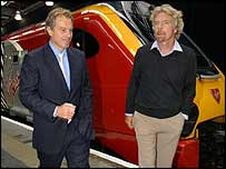 Tony Blair and Richard Branson