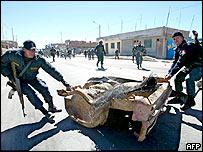Police in Ilave, Peru