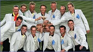 The winning European Ryder Cup team