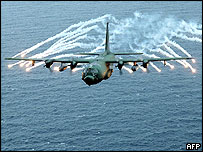 US AC-130 gunship