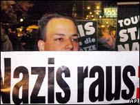 Anti-Nazi protestor in Germany
